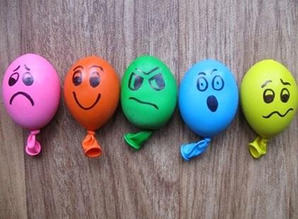 Balões com emoções